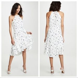 Joie Floral Tiered Ruffle Flare Midi Dress